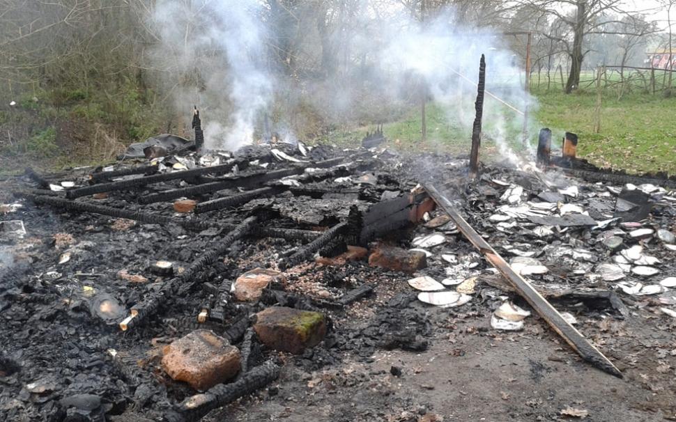 Attentato incendiario all'Oasi Lipu di Roma